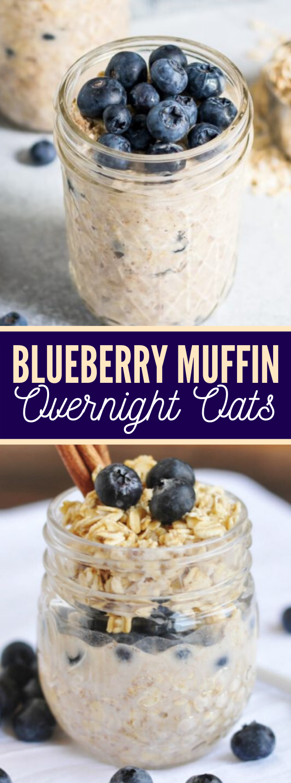 BLUEBERRY MUFFIN OVERNIGHT OATS #diet #breakfast