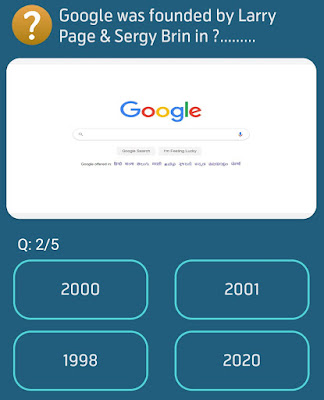 Google was founded by Larry Page & Sergey Brin in?