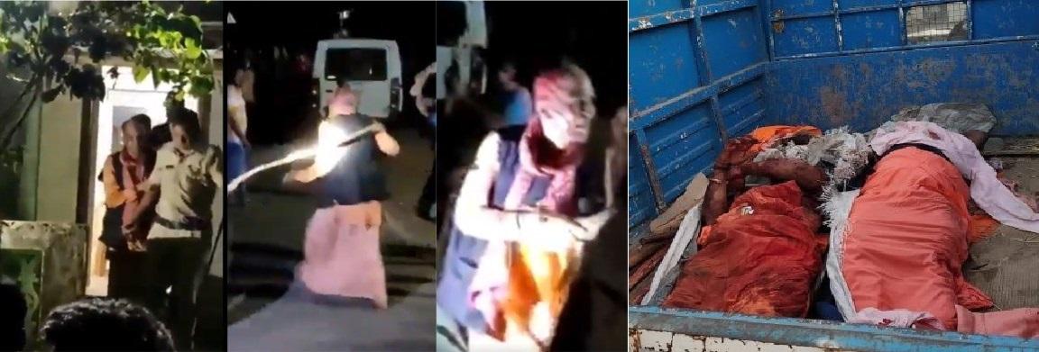 పాల్ఘర్ హత్య:: ఇద్దరు సాధువులను హత్య చేసిన 110 హంతకుల అరెస్టు - పోలీసుల ప్రేక్షక పాత్ర - Palghar lynching: 110 including 9 juveniles arrested for murder of two Sadhus and a driver where police acted as mute spectator