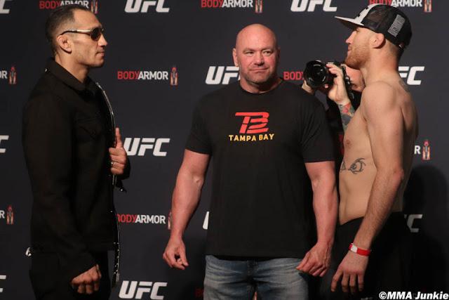 Tony Ferguson Justin Gaethje UFC 249 Face Off