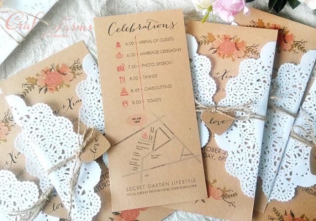Secret Garden lifestyle Kuala Lumpur Rustic Wedding Cards