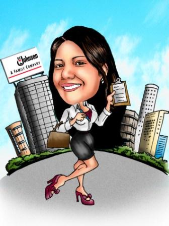 Kaelcatures Office Girl B