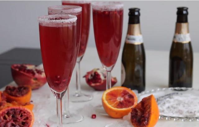 Christmas Mimosas #drinks #alcohol