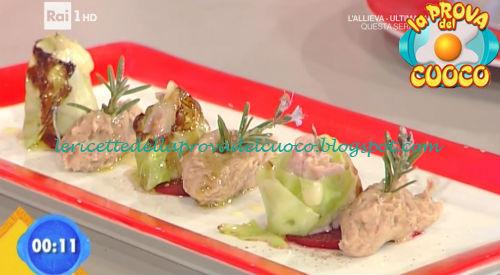 Involtini di verza con purea di fagioli borlotti ricetta Salvatori da Prova del Cuoco