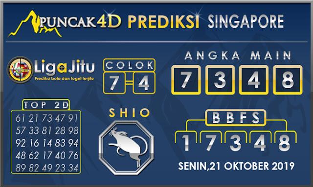 PREDIKSI TOGEL SINGAPORE PUNCAK4D 21 OKTOBER 2019