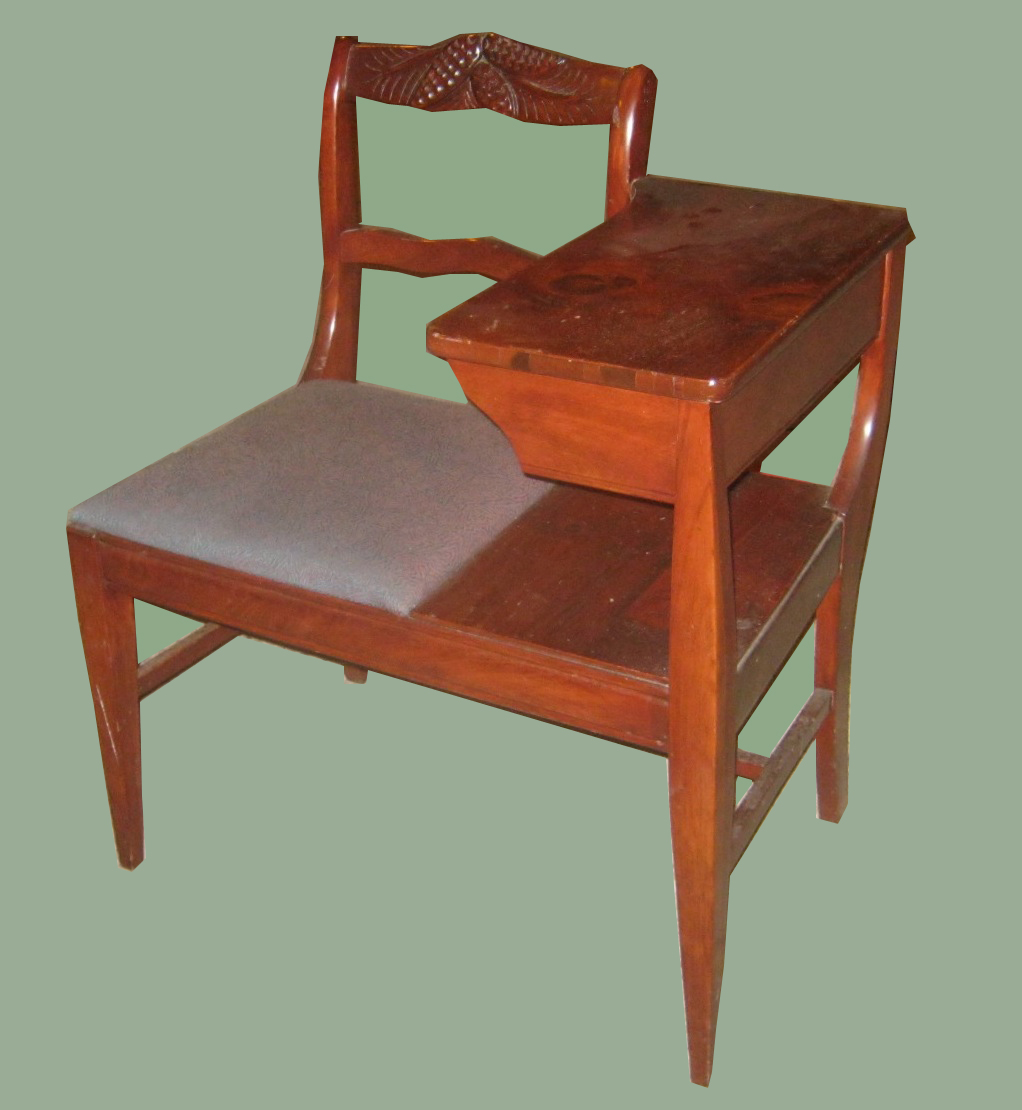 Free Pick Up Donations Furniture Uhuru Furniture & Collectibles: 1940's Maple Telephone ...