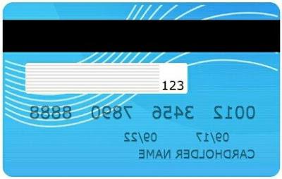 letak kode CVV & CVC kartu kredit bri