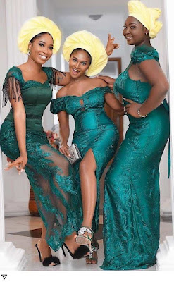 Emerald Green Lace Styles for Ladies