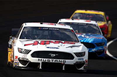 The Ford Performance Mustangs had a strong finish at IMS #NASCAR