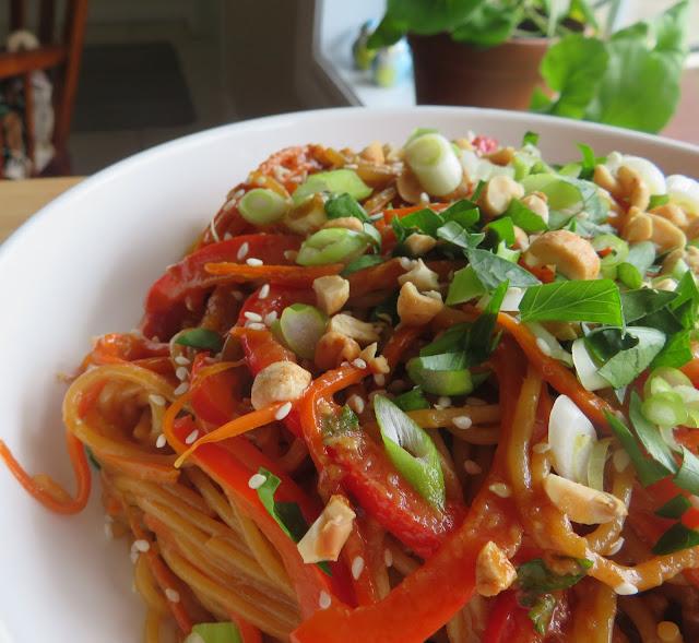 Peanut Sauced Easy Thai Noodles