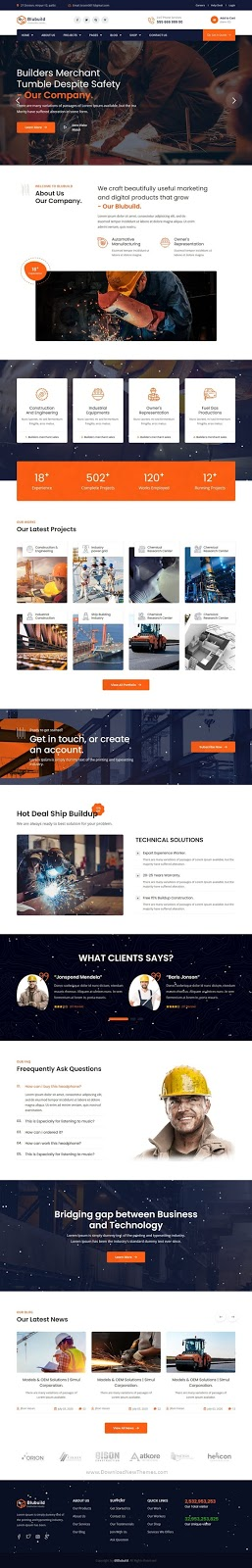 Best Industrial Construction Template