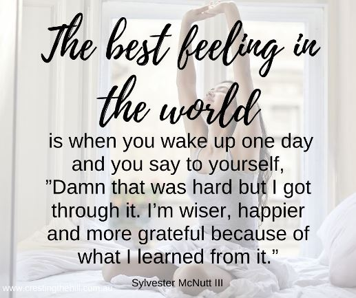 The best feeling in the world is when you wake up one day...Sylvester McNutt III #lifequotes