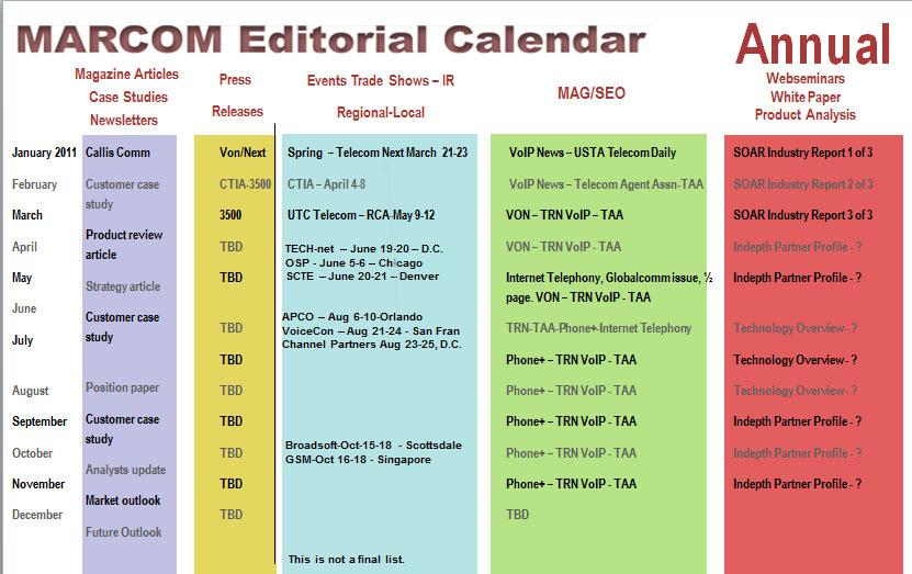 annual event calendar template - marketing communications marcom online marketing calendar