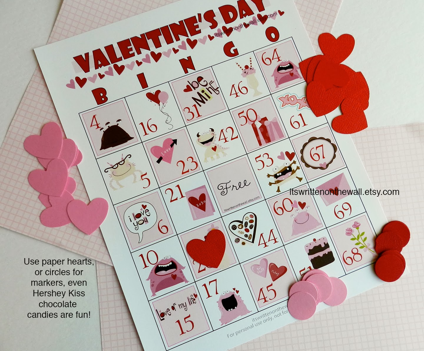 A Valentine S Day Bingo Game For Kids And School Parties Plus Cute Tags