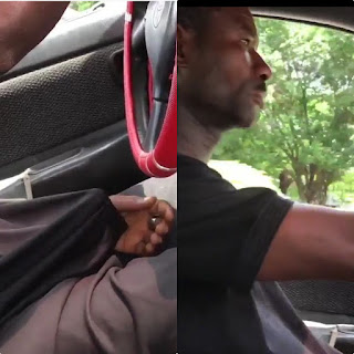 Disgusting Moment A Taxi Driver Was Caught Masturbat!ng While Driving A Beautiful Lady In Abuja