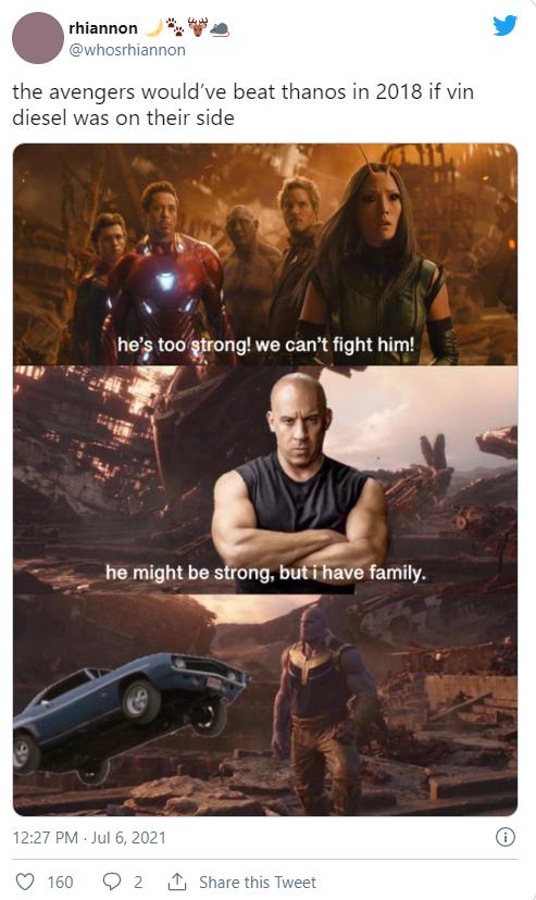 vin diesel family avengers memes