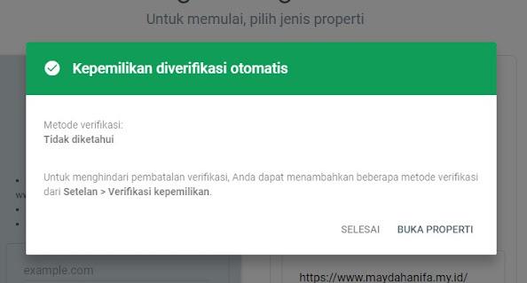 pemasangan google search console