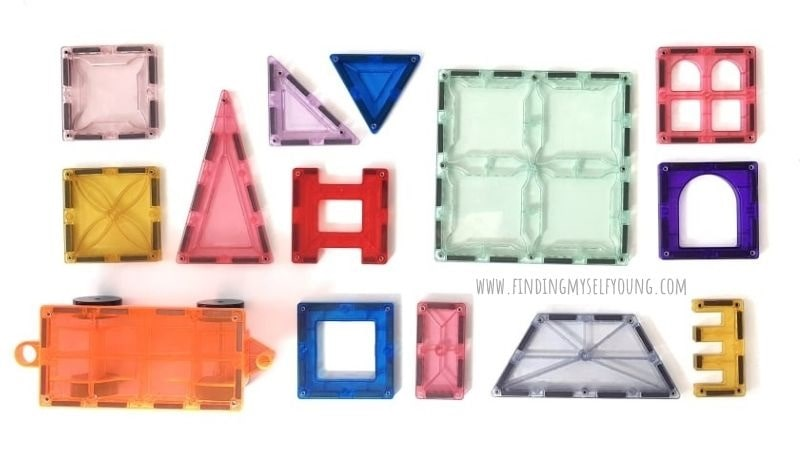 magblox magnetic tiles shapes