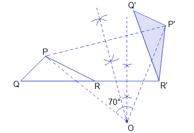 Example 3: Solution: The centre and the angle of rotation.