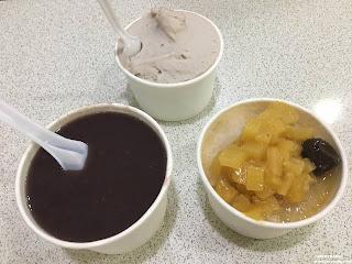 紅豆湯、芋頭冰、鳳李冰