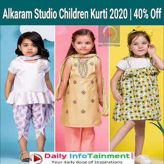 Alkaram Studio Children  Kurti 2020   40% Off