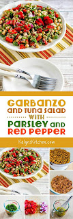 Garbanzo and Tuna Salad with Parsley and Red Pepper found on KalynsKitchen.com