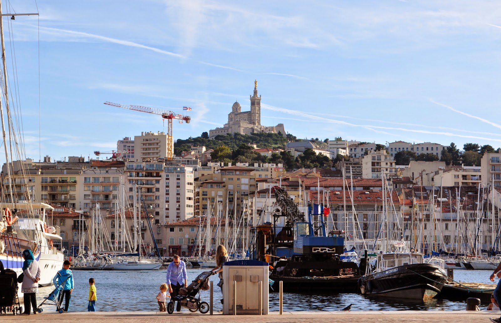 our house in provence saturday in marseille and a big hike up to notre dame de la garde. Black Bedroom Furniture Sets. Home Design Ideas