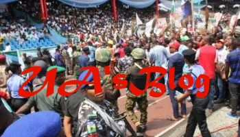 Buhari, Osinbajo, others smuggled out as hoodlums attack APC rally