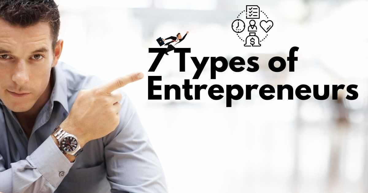 7 Types Of Entrepreneurs - Moniedism