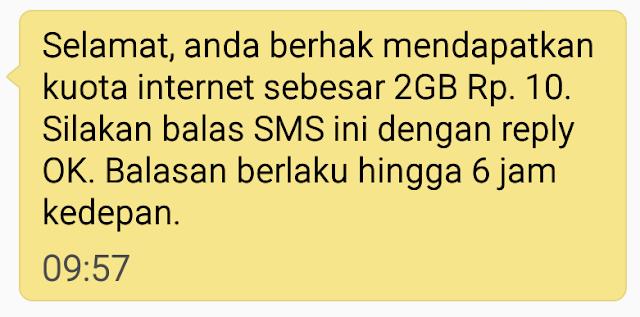 Cara Mendapatkan Kuota Internet Terbaru dari Telkomsel 2GB Hanya Rp10