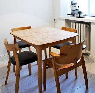 Saving space dining table design