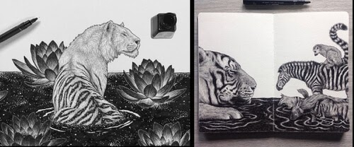 00-Animal-Drawings-Chen-Naje-www-designstack-co