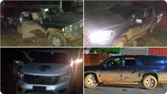 Sicarios emboscan a Policía Michoacana en Tingüindín salen huyendo y abaten a uno; aseguran trocas, arma y granada fragmentación
