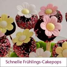 Schnelle Frühlings-Cakepops