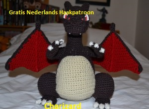 Nederlands Haakpatroon Pokemon Charizard Tallsaycom