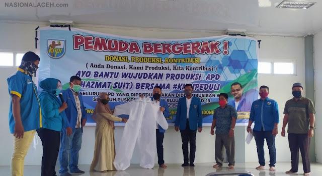 Dukung Penanganan Pandemi Covid-19, KNPI Banda Aceh Produksi APD