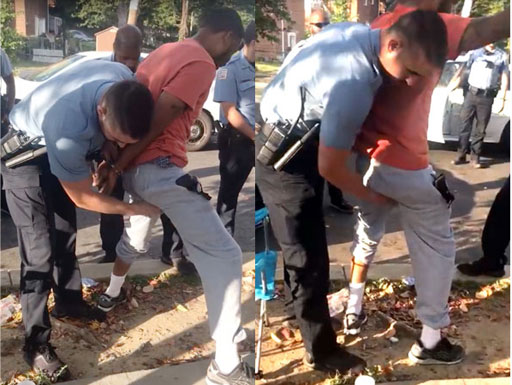 Did this police officer go too far in searching a citizen during a 'stop and frisk' in Washington DC?