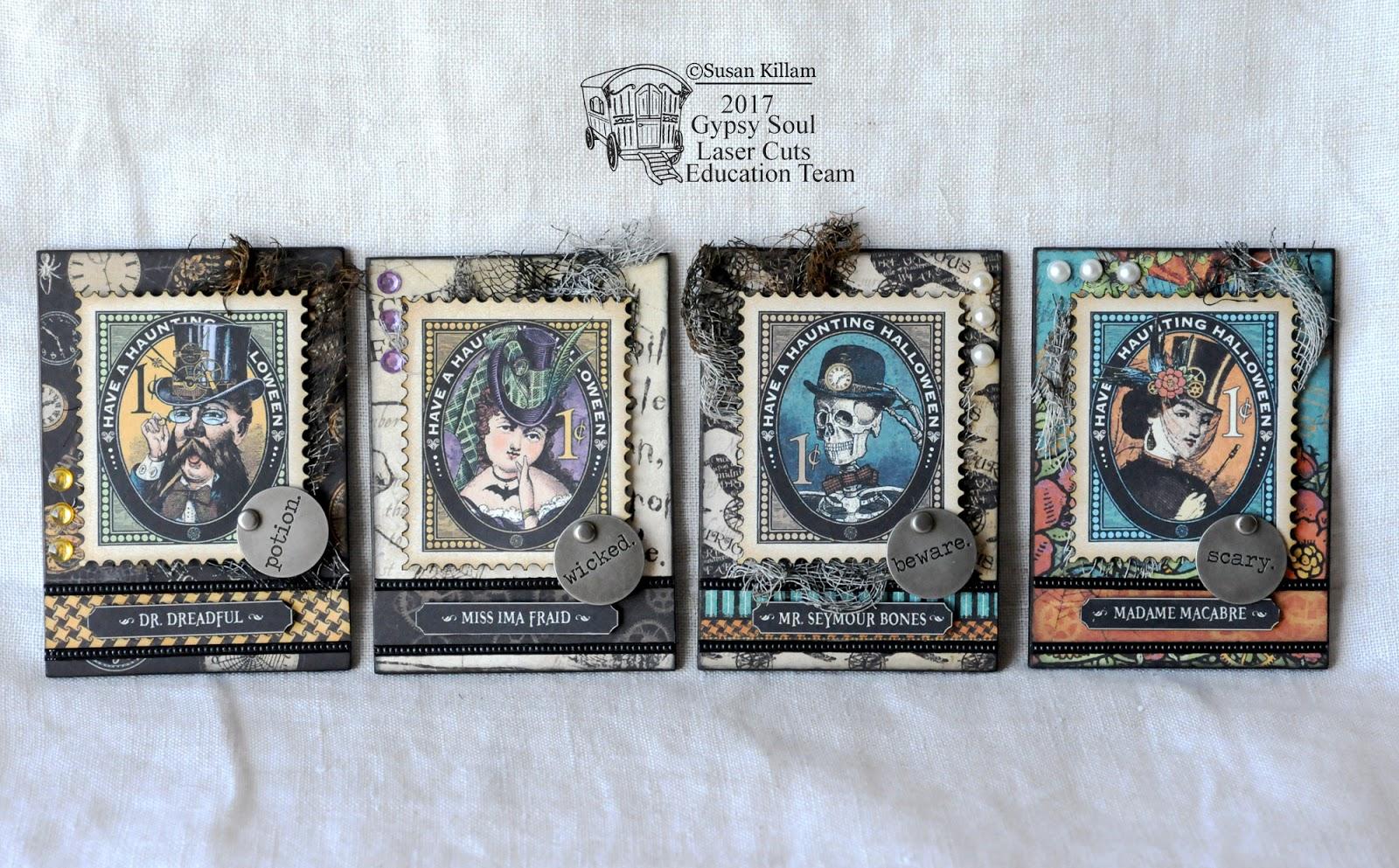 Gypsy Soul Laser Cuts Steampunk Halloween Art Card Set By Susan