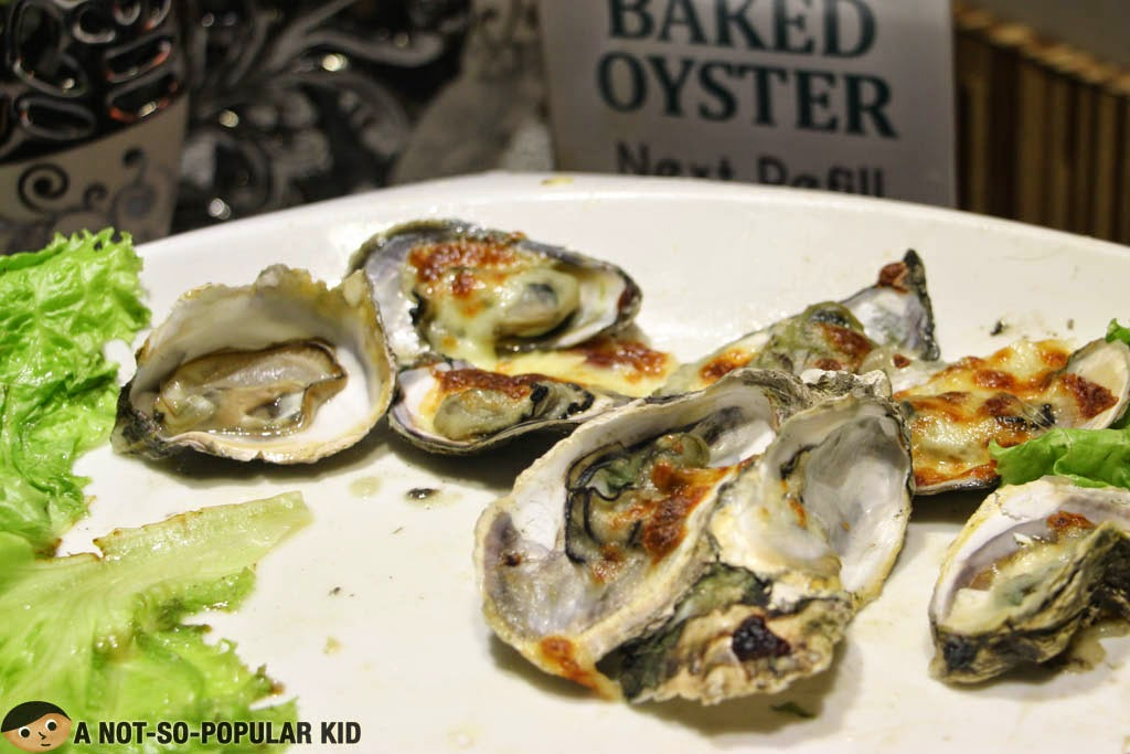 Baked Oyster in The Buffet International Cuisine
