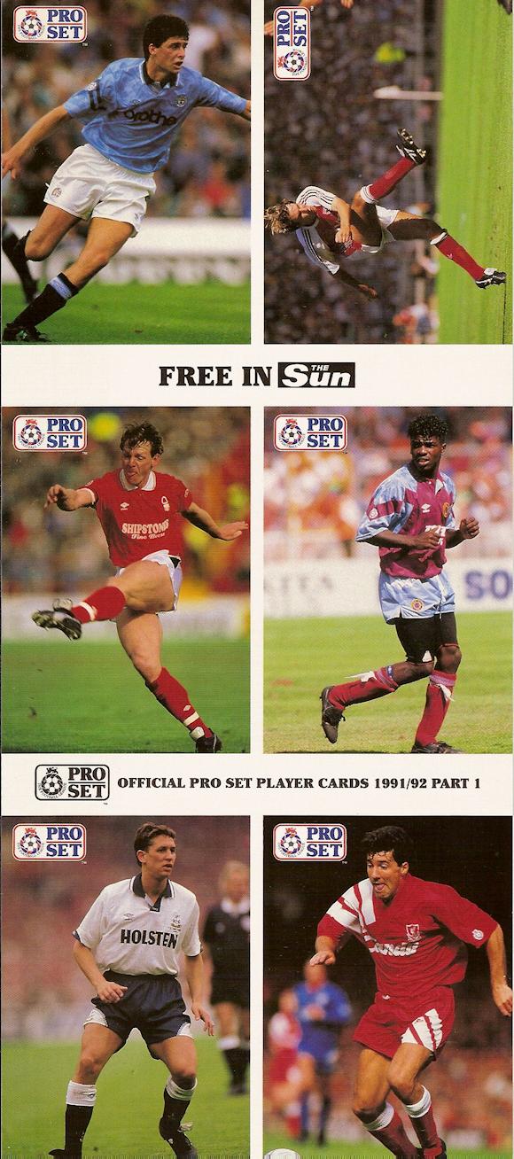Lee Chapman Leeds United #42 Pro Set Fútbol 1991-2 tarjeta de comercio C364