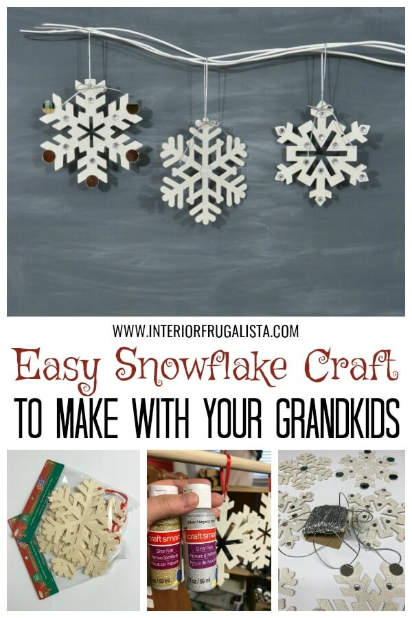 Easy Large Snowflake Ornament Craft For Kids