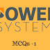MCQs or Objectives on Power Systems | Only4electrical | Electrical objectives question and answers|