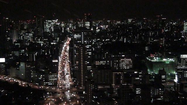 Tokio de noche desde la torre