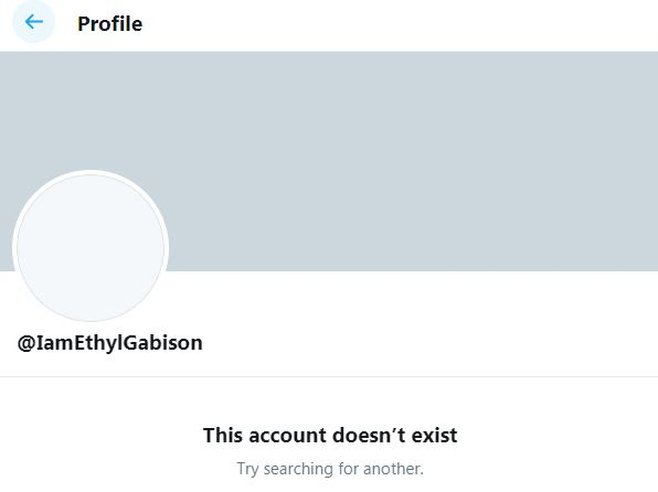 Ethel Booba's Twitter account with 1.6M followers is fake