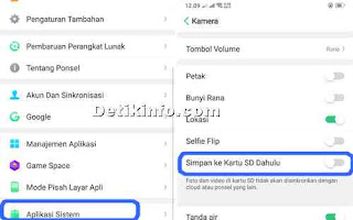 menu settingan kamera HP Realme