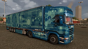 Blue Tech skin for Scania R