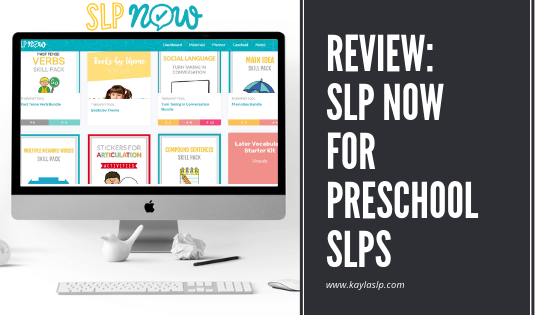 Review: SLP Now for Preschool SLPs