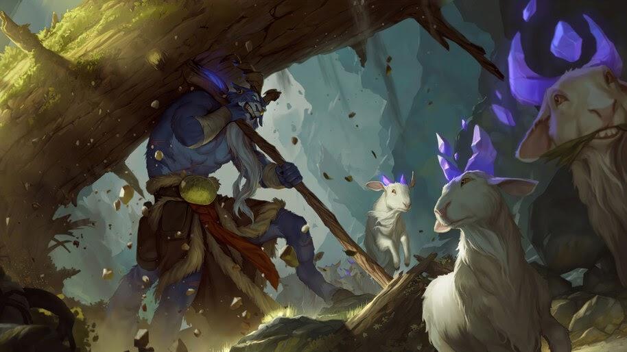 Broadbacked Protector, Targon, Legends of Runeterra, 4K, #5.2714