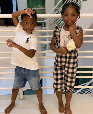 image result for Davido and Tiwa Savage child Imade and Jamil