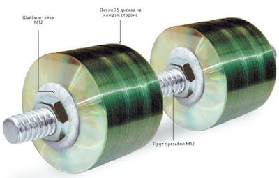 Гантели из CD дисков